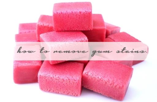 FASHION DU JOUR | HOW TO REMOVE GUM STAINS