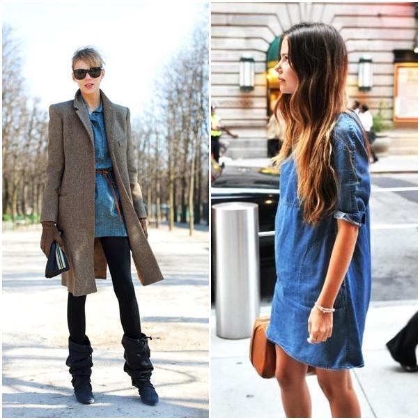 FASHION DU JOUR   How to wear a denim dress