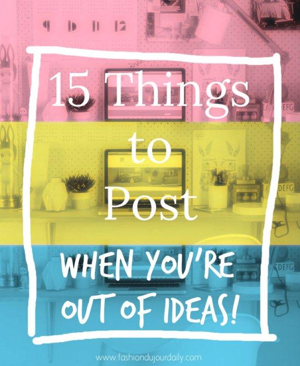 15 things to post