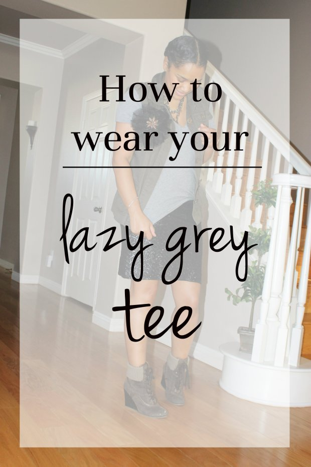 how to wear a grey tee